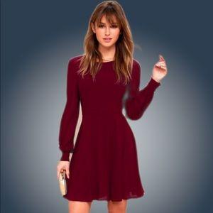 Lulu's Maroon Dress XS